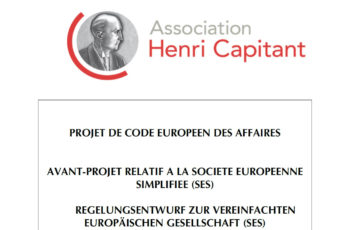 Europäisches Wirtschaftsgesetzbuch: Die Vereinfachte Europäische Gesellschaft